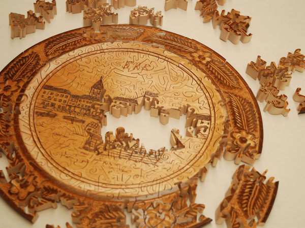 Decorative wooden plate puzzle - Rocchi